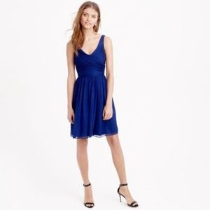 J. Crew Navy Heidi Dress Silk Chiffon 2